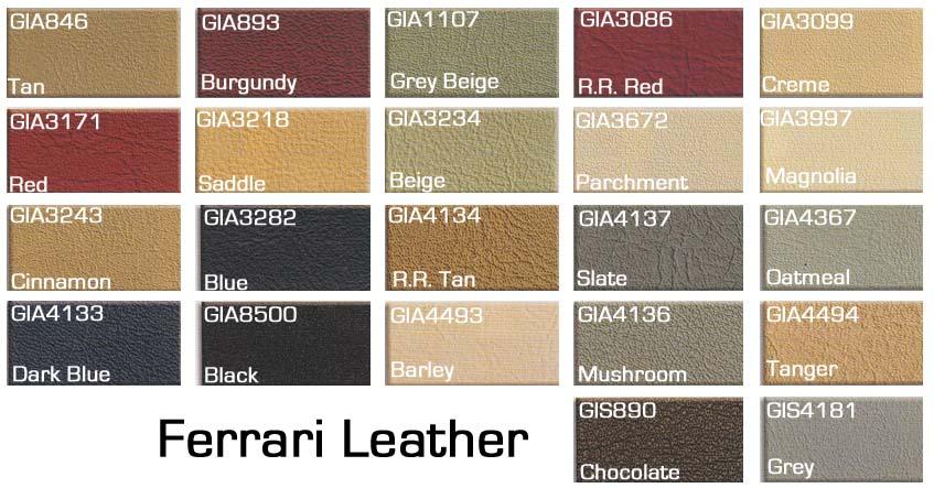 ferrari leather colors car image idea. Black Bedroom Furniture Sets. Home Design Ideas