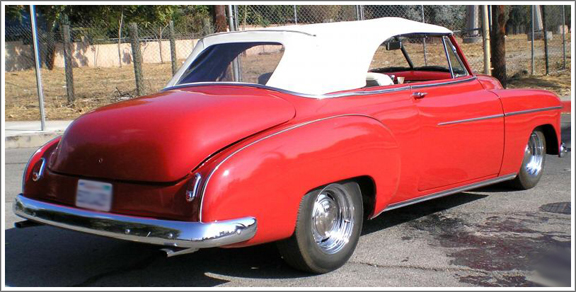 1940 52 Chevrolet Convertible Tops And Convertible Top Parts