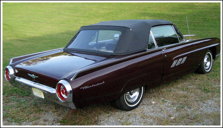 1961 63 Ford Thunderbird Convertible Tops And Convertible