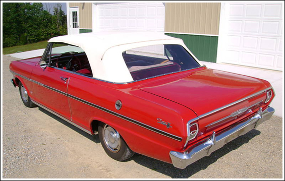 1962 63 chevrolet nova and chevy ii convertible tops and