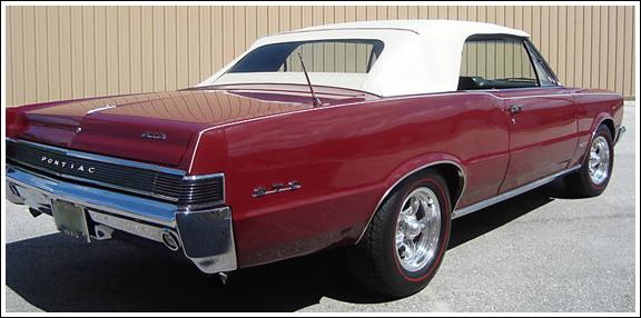 1964 65 Pontiac Gto Convertible Tops And Convertible Top Parts