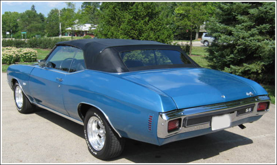 1968 72 Chevrolet Chevelle Malibu Convertible Tops And Top Parts