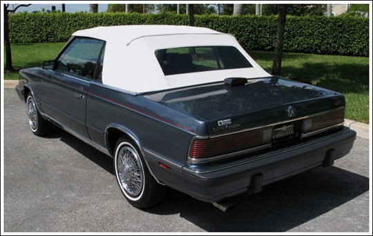 198486    Chrysler       Lebaron    and Dodge 600 Convertible Tops
