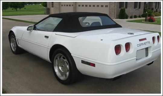 Corvette Car Cover >> 1994-96 Chevrolet Corvette Convertible Tops and Convertible Top Parts