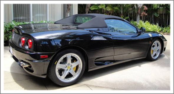 2001ON Ferrari 360    Spider    Convertible Tops and