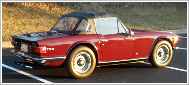 1969-76 Triumph TR6 Convertible Tops and Convertible Top Parts