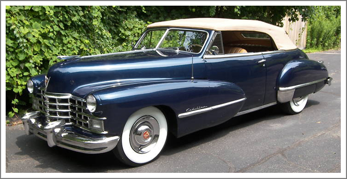 1942-47 Cadillac (All) Convertible Tops and Convertible Top Parts