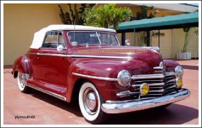 1942 48 Plymouth Convertible Tops And Convertible Top Parts