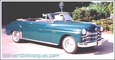 1949 52 Dodge Coronet Coupe Convertible Tops And