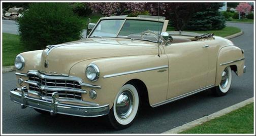 1949 Dodge Wayfarer Convertible Tops and Convertible Top Parts