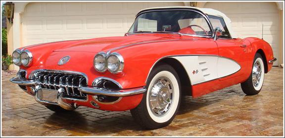 1956-58 Chevrolet Corvette Convertible Tops And