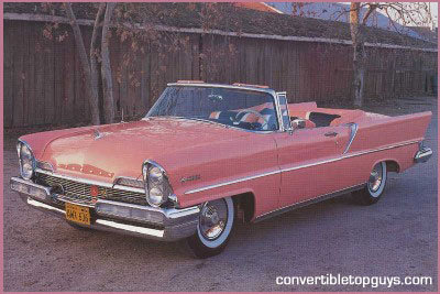 1957 lincoln premiere convertible tops and convertible top. Black Bedroom Furniture Sets. Home Design Ideas