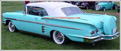 1958 Chevrolet Impala Convertible Tops And Convertible Top