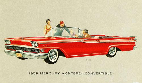 1959 1960 Mercury Monterey Amp Park Lane Convertible Tops