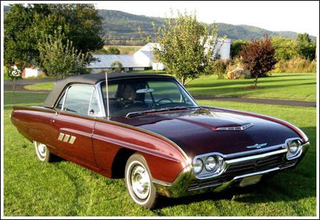 1961 63 ford thunderbird convertible tops and convertible top parts