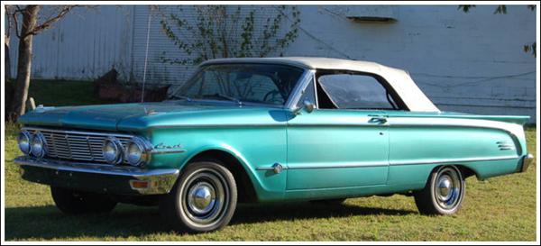 1963-65 Mercury Comet Convertible Tops and Convertible Top Parts