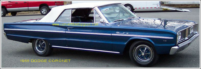1966 Dodge Coronet Convertible Tops and Convertible Top Parts