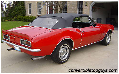 1967 69 Chevrolet Camaro Convertible Tops And Convertible