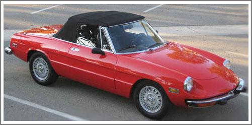Alfa Romeo Spider Graduate Veloce - Alfa romeo spider soft top