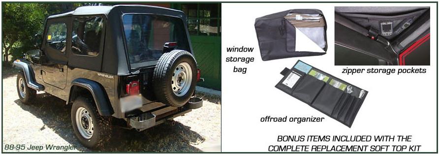 Jeep Wrangler, 1988 95. Convertible Top And Convertible Top Parts