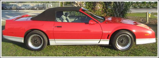 1987 Mid 1988 Pontiac Firebird Amp Trans Am Convertible Tops