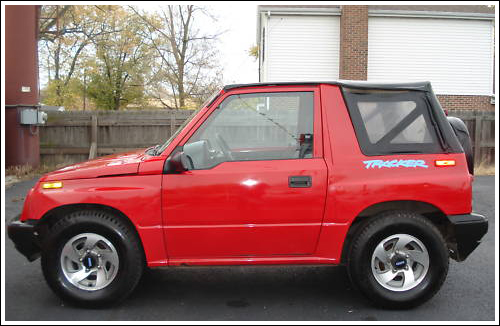 1995 98 Geo Tracker Chevrolet Tracker Convertible Tops
