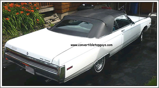 1969 70 Chrysler 300 Amp Newport Convertible Tops And