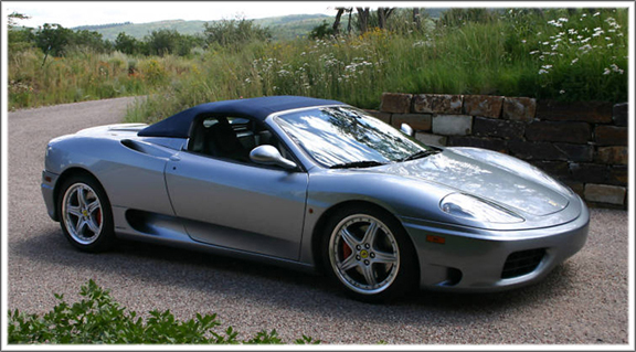 2001 On Ferrari 360 Spider Convertible Tops And