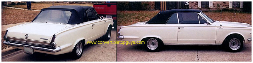 1965-66 Plymouth Valiant & Signet 200 Convertible Tops and ...