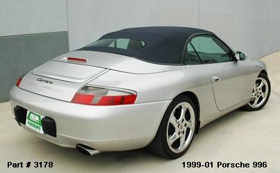 1999-01 Porsche 996, 911 Carrera Convertible Tops and