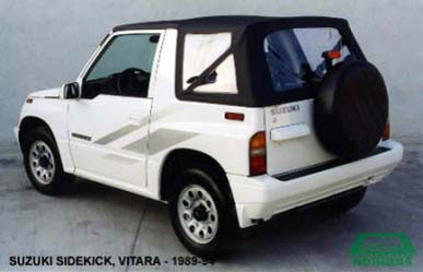 1988 94 Geo Tracker Chevrolet Tracker Convertible Tops