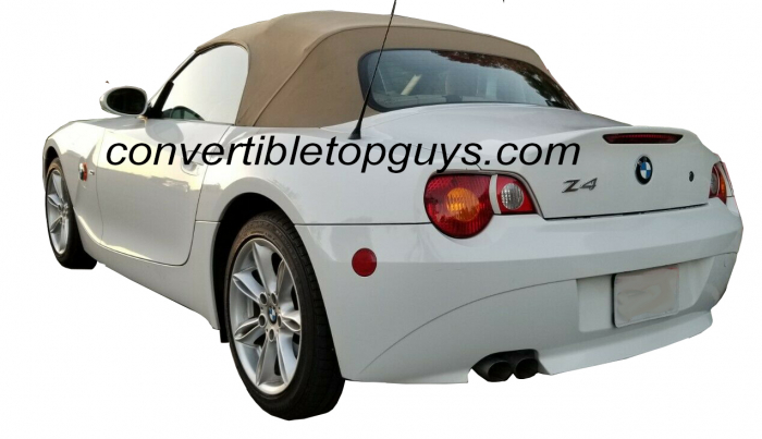 ORANGE STITCH TOP ROOF PANEL LEATHER COVER FITS BMW Z4 E85 ROADSTER 2003-2009
